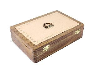 """Wooden Chess Box for Storage of Rio Staunton Chess Pieces King Size - 4"""" in Golden Rosewood"""