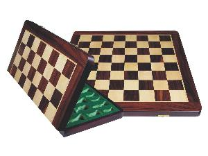 Wooden Folding Chess Board Rosewood/Maple 22""