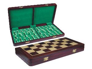 """Wooden Folding Chess Board Rosewood/Maple 21"""""""