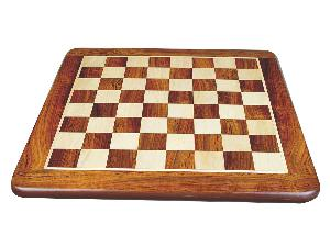 """Flat Chess Board Golden Rosewood/Maple Rounded Edges 18"""""""