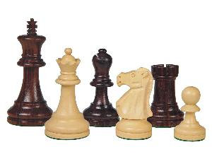 Wooden Chess Pieces Supreme Staunton Rosewood/Boxwood 3-3/4""