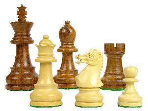 "Chess Set Pieces Sovereign Staunton 3-1/4"" Golden Rosewood/Boxwood"