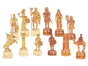 "Roman Arabian Theme Chess Pieces 5"" American Cherry/Boxwood"