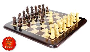 "Wenge/Boxwood Chess Set Pieces Galaxy Staunton 3"" (76 mm) + 2 Extra Queens - Triple Weighted"