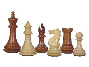 Wooden Chess Set Pieces Majestic Staunton Golden Rosewood/Boxwood 4""