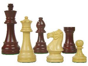"Tournament Style Popular Staunton Wooden Chess Pieces King Size 4"" Rosewoodnized/Boxwood"