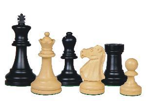 """Supreme Staunton Wooden Chess Pieces Ebonized/Boxwood 3-3/4"""""""