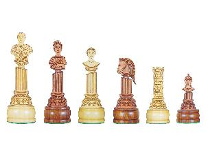 Roman Emperor Bust Theme Chess Pieces American Cherry/Boxwood 5""