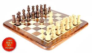 """Walnut/Boxwood Chess Set Pieces Galaxy Staunton 3"""" (76 mm) + 2 Extra Queens - Triple Weighted"""