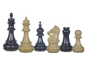 Premier Chess Pieces Regalia Staunton Ebony/Boxwood 4-1/2""