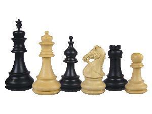 """Premier Chess Pieces Regalia Staunton Ebonized/Boxwood 4-1/2"""""""
