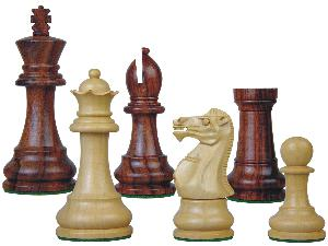 """Tournament Chess Pieces Wooden Monarch Staunton Rosewood/Boxwood 3-3/4"""""""