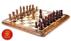 """Bud Rosewood/Mahogany Wood Chess Set Pieces Galaxy Staunton 3"""" + 2 Extra Queens"""