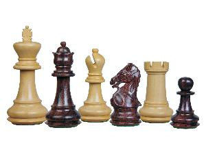 Premier Chess Set Pieces Royal Crown Staunton Rosewood/Boxwood 4-1/4inch