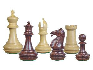 Emperor Staunton Wooden Chess Pieces Rosewood/Boxwood 4""