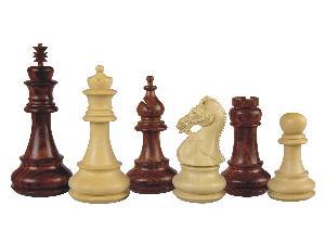 """Premier Chess Pieces Regalia Staunton Rosewood/Boxwood 4-1/2"""""""