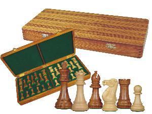 "Imperial Staunton Chess Set Pieces 4"" & Wooden Presentation Storage Box Golden Rosewood"