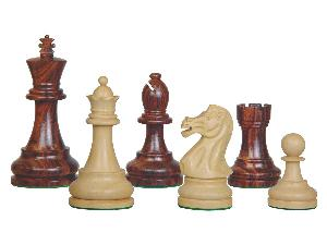 """Sovereign Staunton Wood Chess Pieces Rosewood/Boxwood 4"""""""