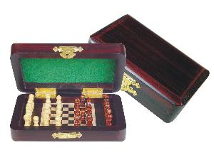 """Pegged Chess Set with Extra Pegs Standing Space Rosewood/Maple 5""""x3"""""""