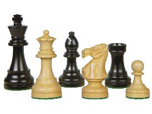 "Popular Staunton Wooden Chess Pieces King Size 3"" Ebony/Boxwood"