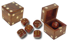 Set of 5 Dice and Box