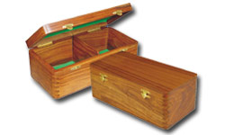 Wooden Hinged Chess Boxes