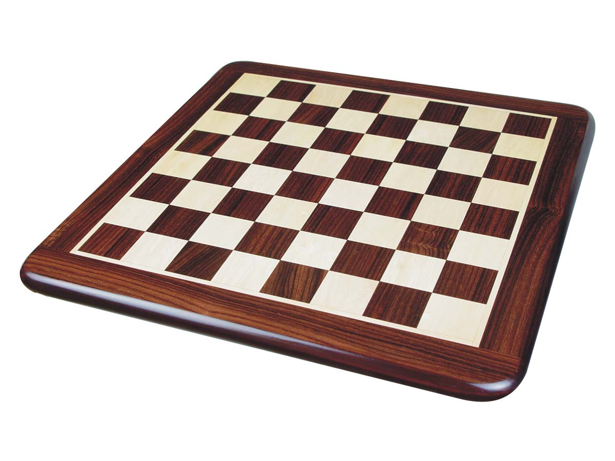 Wooden Flat Chess Board Rosewood/Maple 15""