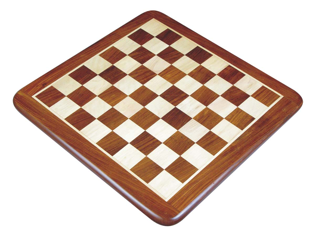 Flat Wooden Chess Board Golden Rosewood/Maple 23""