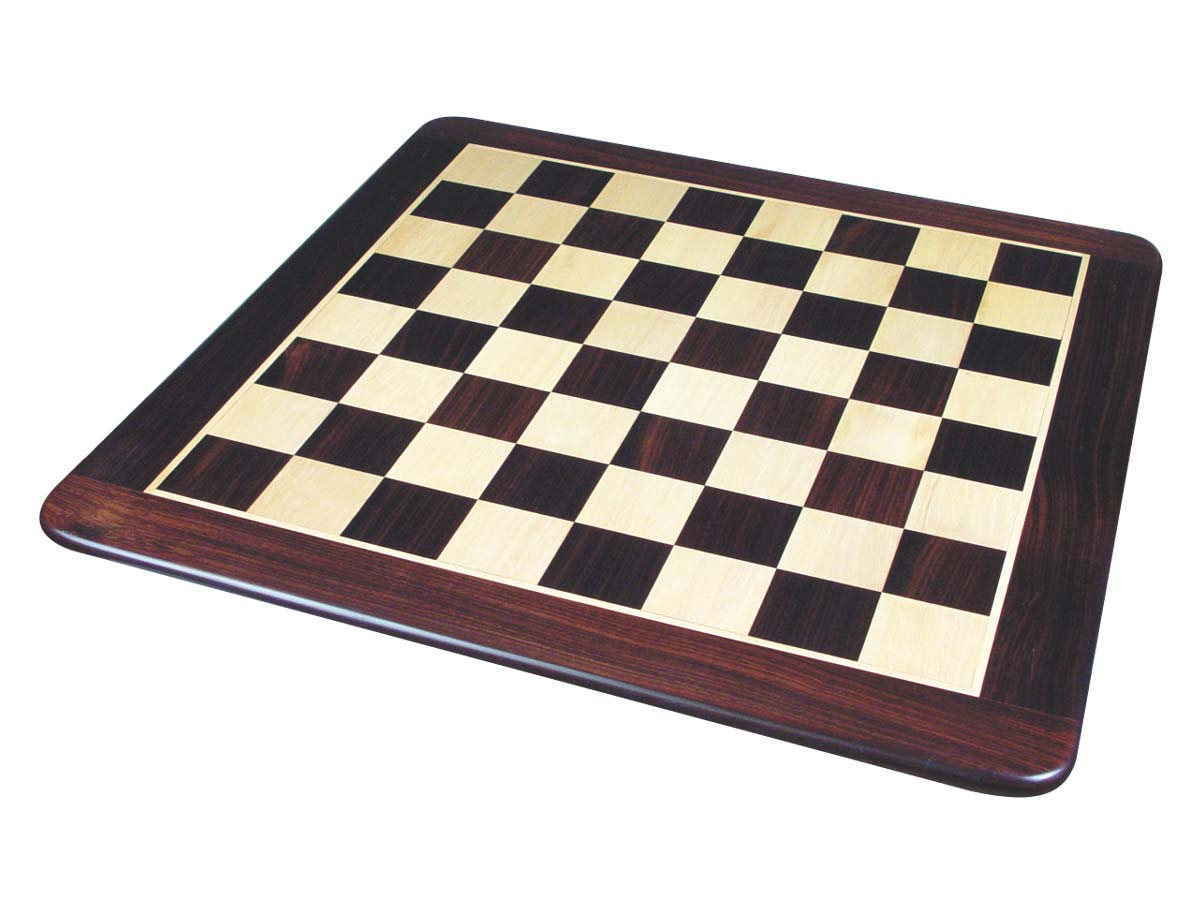 Flat Chess Board Rosewood inlaid with Maple 20""