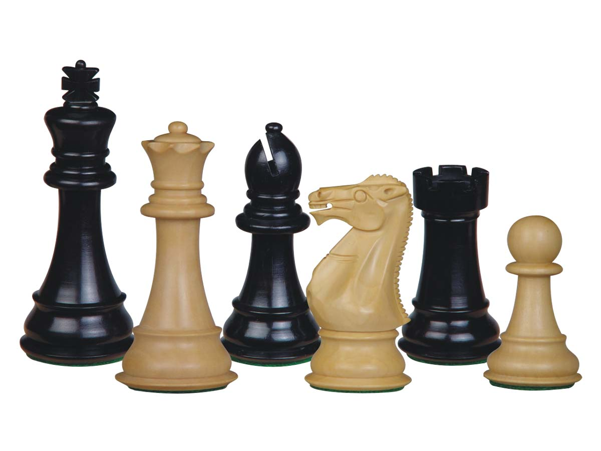 Perfect Tournament Chess Set Pieces Imperial Staunton Ebony/Boxwood 4""