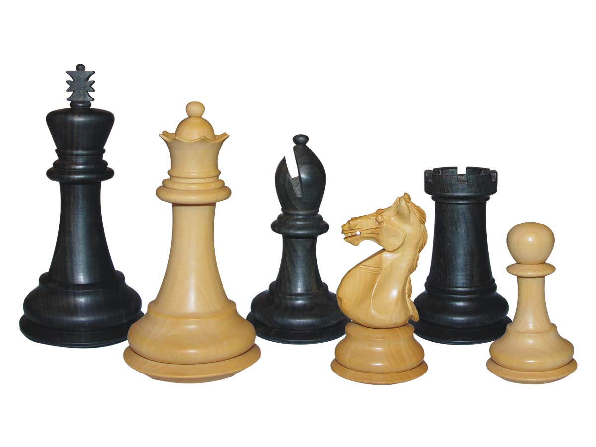 Wood Chess Set Pieces Majestic Staunton Ebony/Boxwood 4""
