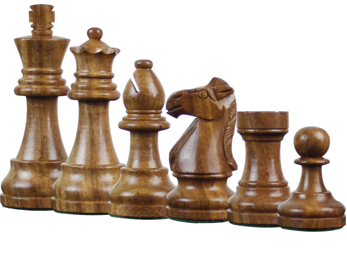 Famous Staunton Golden Rosewood Chess Pieces