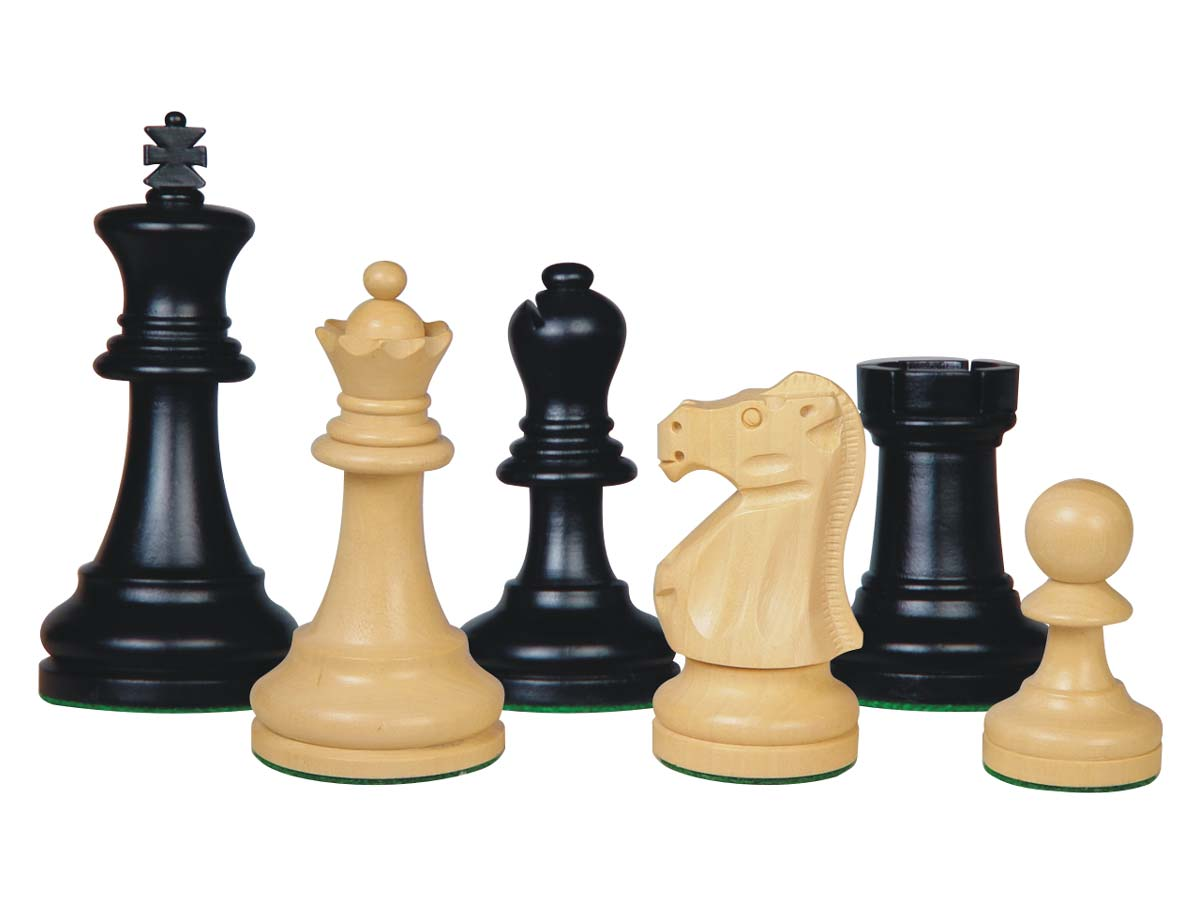 Supreme Staunton Wooden Chess Pieces Ebonized/Boxwood 3-3/4""