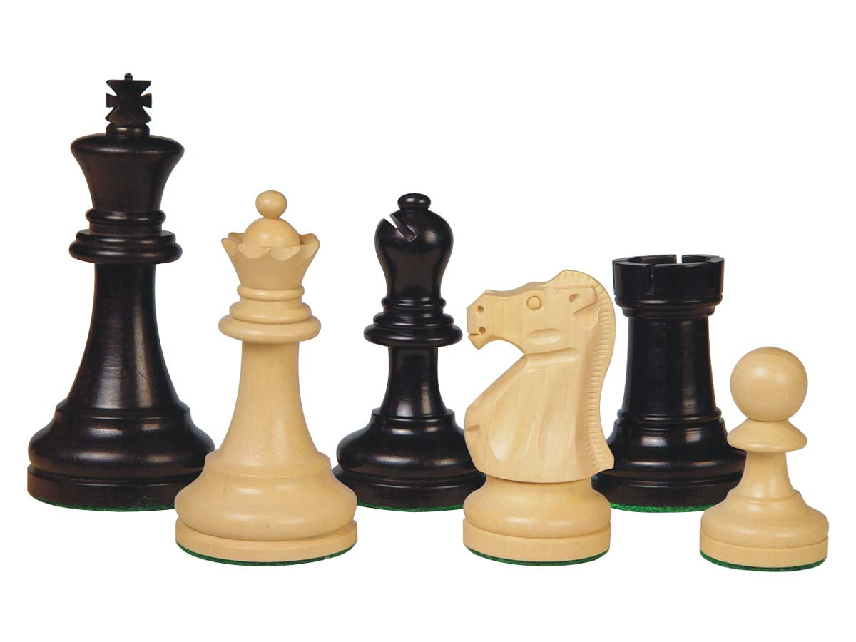 Wooden Chess Pieces Supreme Staunton Ebony/Boxwood 3-3/4""