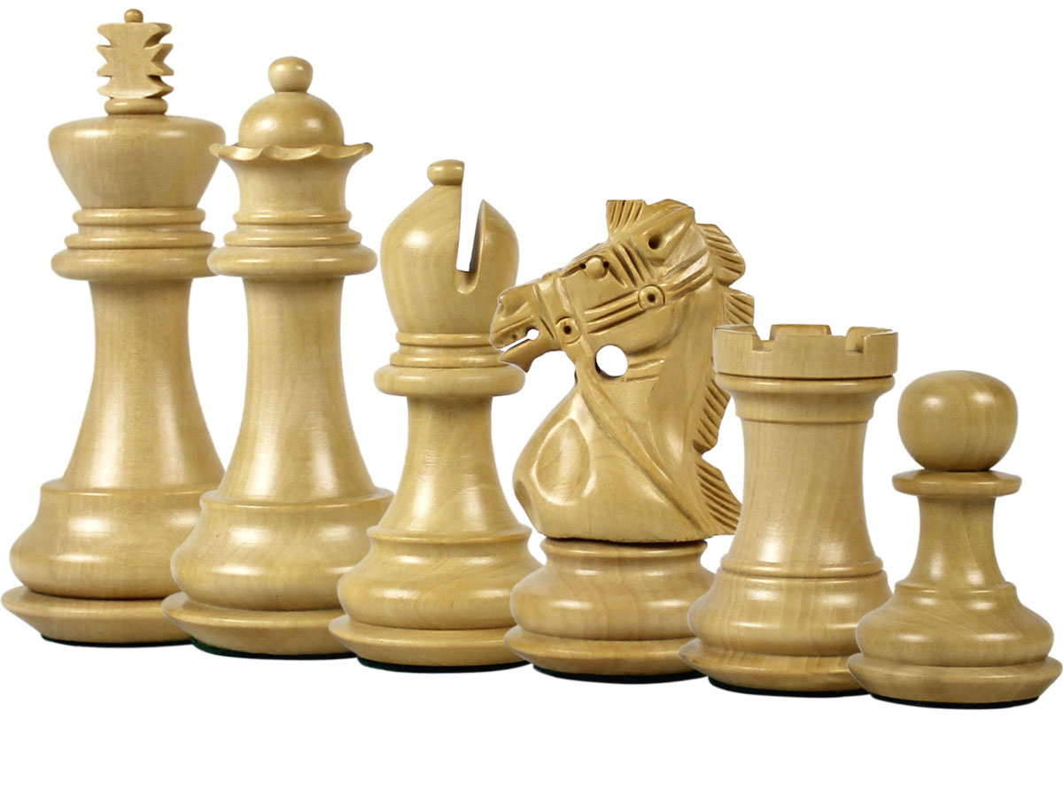 Bridle Knight Staunton Boxwood Chess Pieces