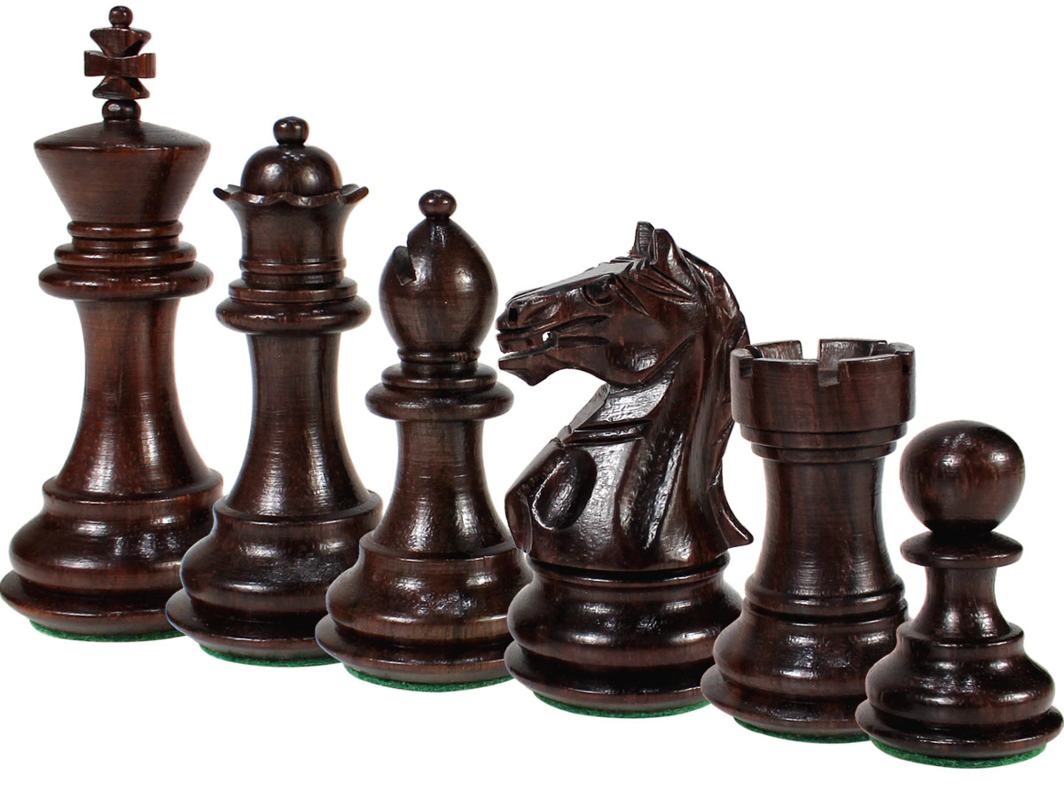 Fierce Knight Staunton Rosewood Chess Pieces