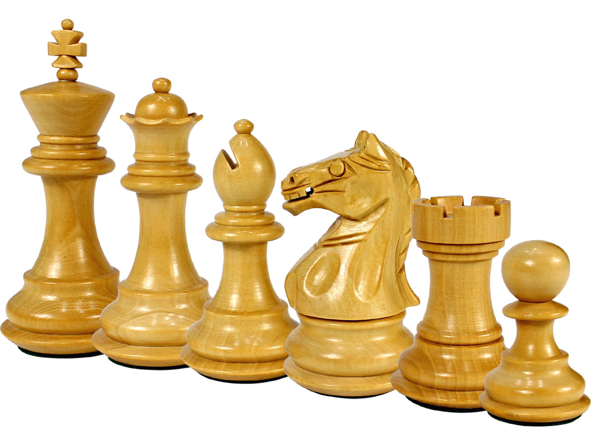 Fierce Knight Staunton Boxwood Chess Pieces