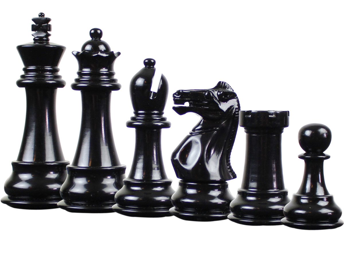 Splendid Staunton Ebonized Chess Pieces
