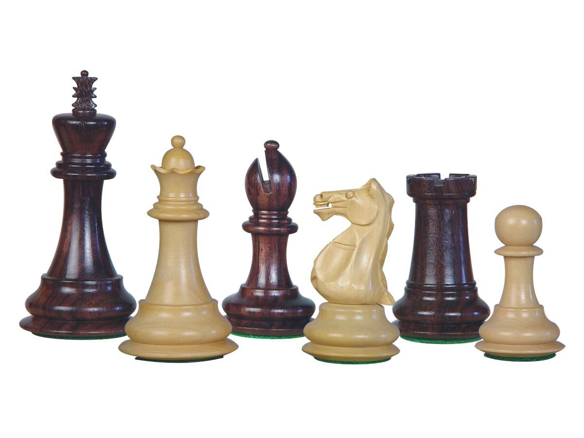 Wood Chess Set Pieces Majestic Staunton Rosewood/Boxwood 4""