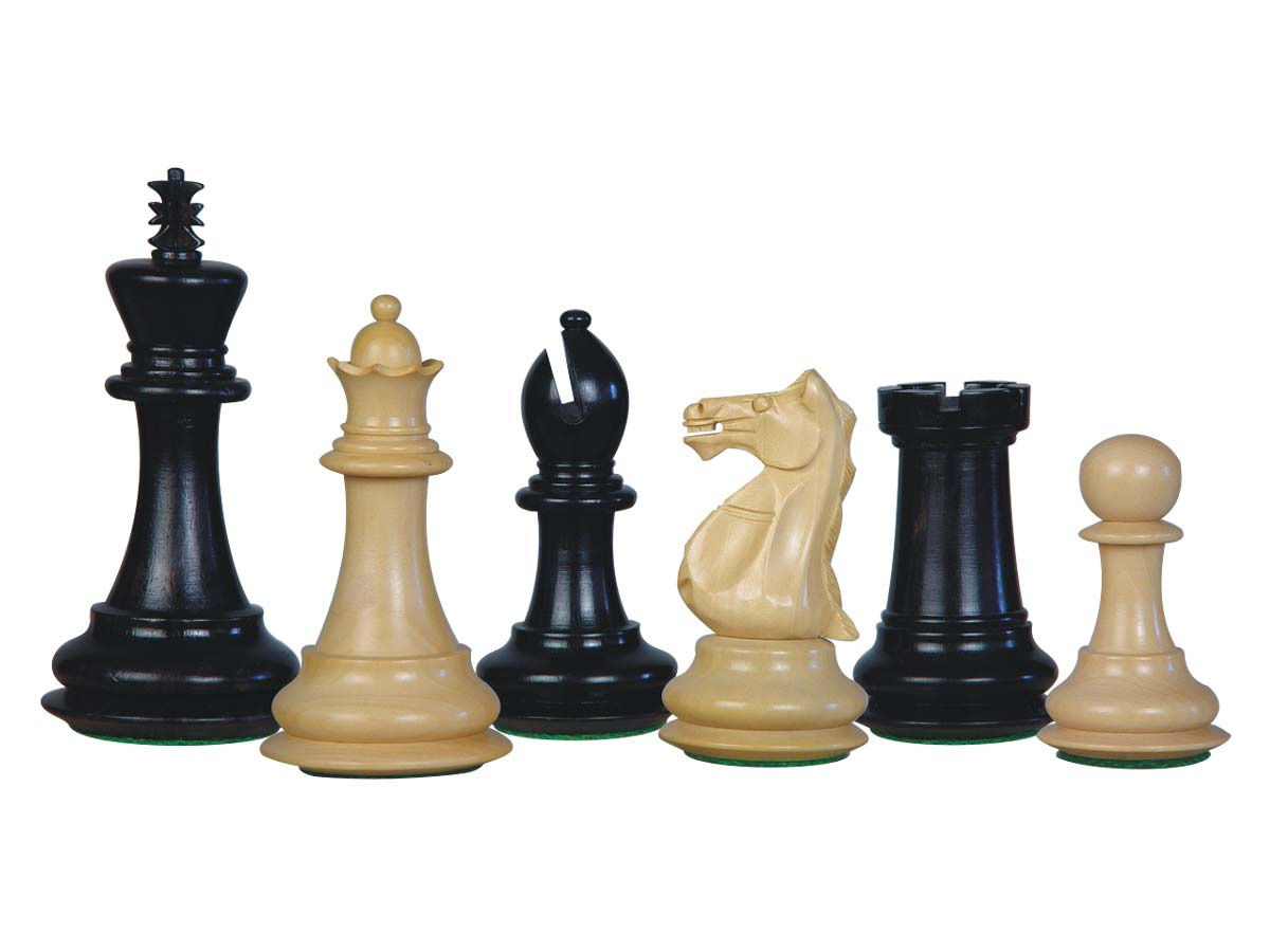 Wood Chess Set Pieces Majestic Staunton Ebonized/Boxwood 4""