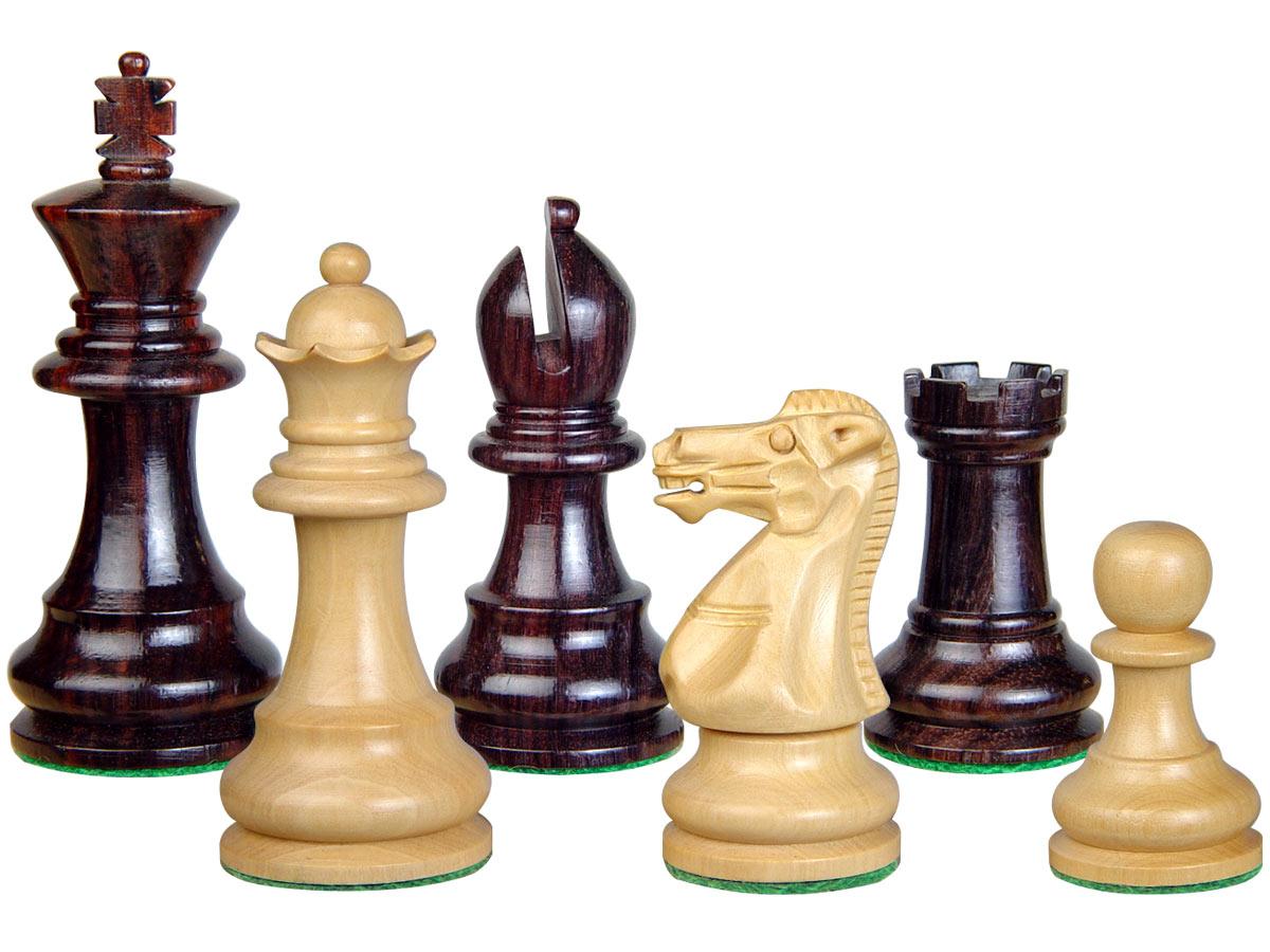 Wood Chess Set Pieces Monarch Staunton King Size 3