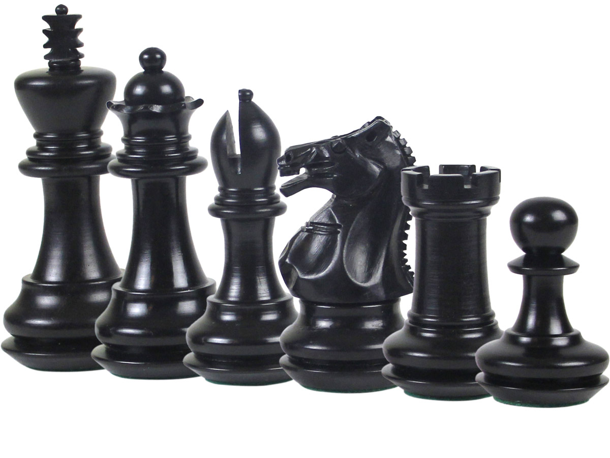 Emperor Staunton Ebony Chess Pieces