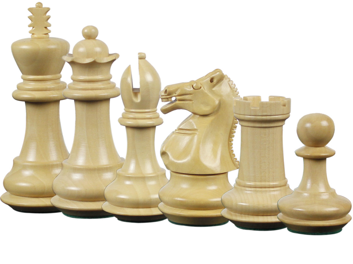 Emperor Staunton Boxwood Chess Pieces