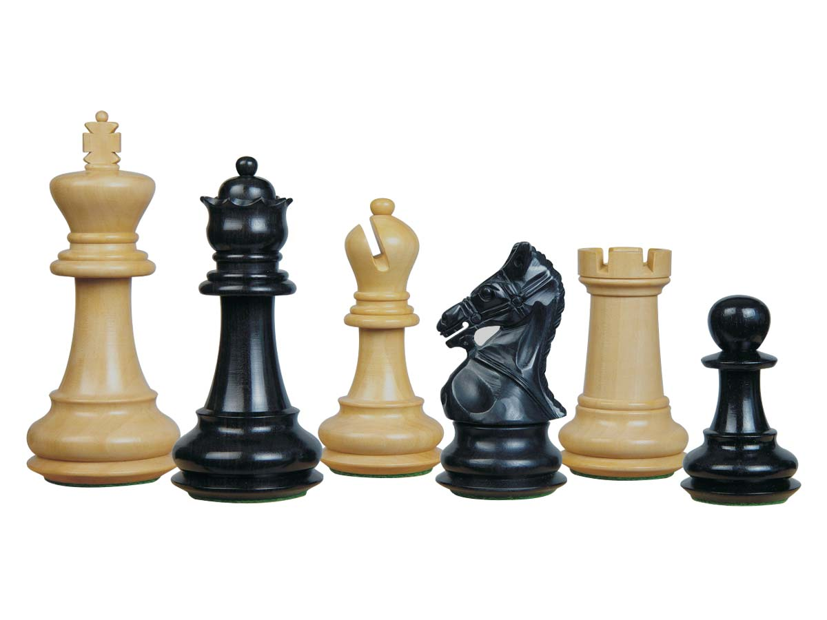 Premier Chess Set Pieces Royal Crown Staunton Ebony/Boxwood 4-1/4inch