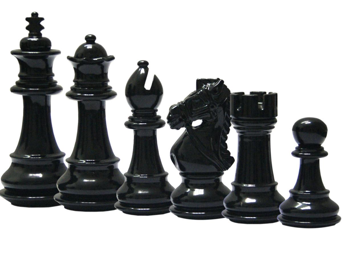Royal Knight Staunton Ebonized Chess Pieces