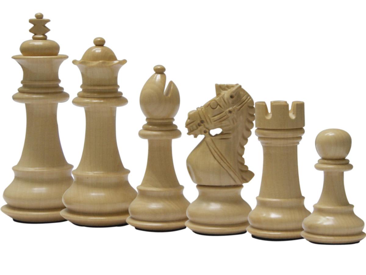Royal Knight Staunton Boxwood Chess Pieces