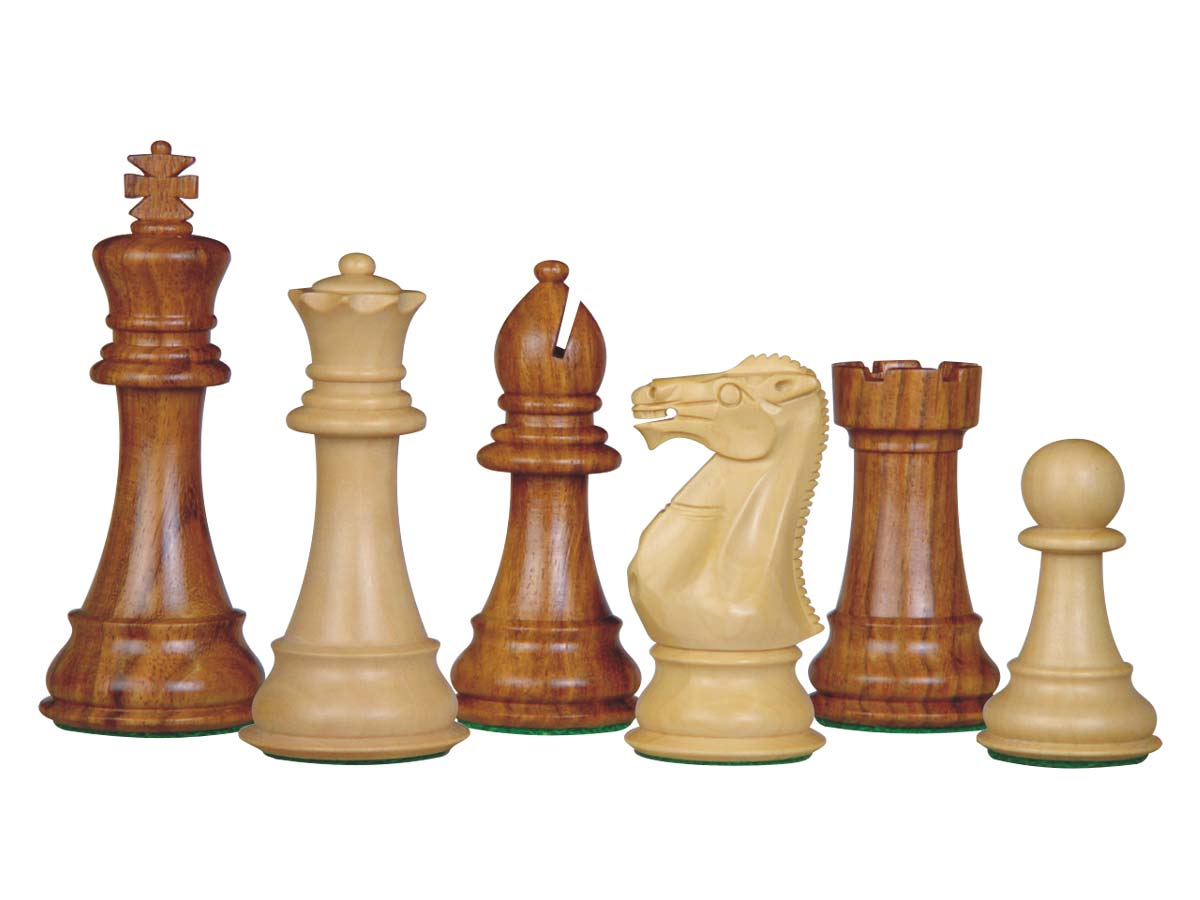 Perfect Tournament Chess Set Pieces Imperial Staunton Golden Rosewood/Boxwood 4""