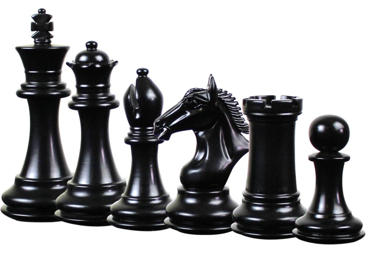 Derby Knight Staunton Ebonized Chess Pieces