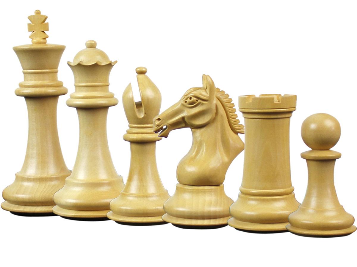 Derby Knight Staunton Boxwood Chess Pieces