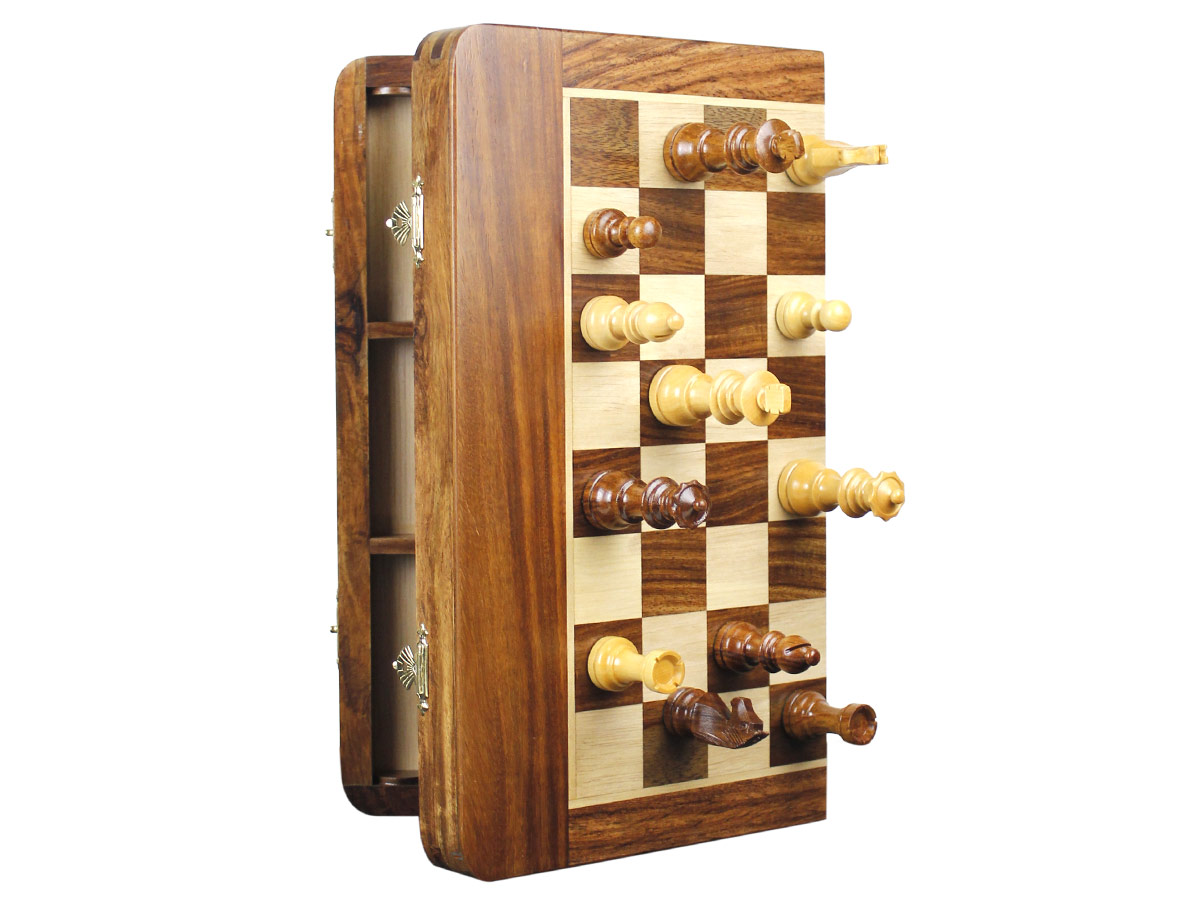 Magnetic Chess Set with pieces attached to board
